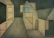 Pencil Sketch Mixed Media Prints - Geometric Abstraction II Print by Dave Gordon