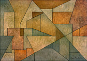 Pencil Sketch Mixed Media Prints - Geometric Abstraction IV Print by Dave Gordon