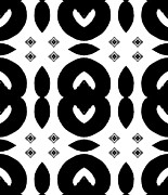 Introvert Prints - Geometric Art Black and White Pattern No.152 Print by Drinka Mercep