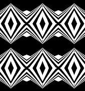 Op Art Digital Art Posters - Geometric Black White Pattern Art Print No.207 Poster by Drinka Mercep