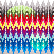 Geometric Colors  Print by Mark Ashkenazi