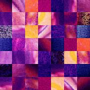 Irina Sztukowski - Geometric Design Squares Pattern Abstract V