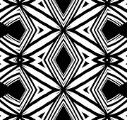 Op Art Digital Art Posters - Geometric Pattern Black White Artwork Print No.208 Poster by Drinka Mercep