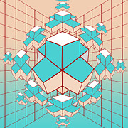 Geometric Shapes Posters - Geometric2 Poster by Mark Ashkenazi