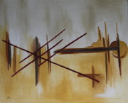 Terra Painting Originals - Geometry - Abstract Painting by Christiane Schulze