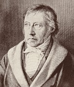 Black Tie Drawings - Georg Hegel  by Anonymous