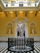 Christiane Schulze Prints - Georg Washington Statue - Capitol Richmond Print by Christiane Schulze