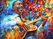 African-american Painting Framed Prints - George Benson  Framed Print by Leonid Afremov