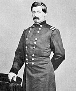 Civil War Photos Posters - George Brinton McClellan Poster by American School