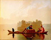Caravaggio Paintings - George Caleb Bingham Fur Traders Descending the Missouri WGA2205 by MotionAge Art and Design - Ahmet Asar