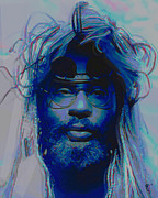 Hair Digital Art Prints - George Clinton Print by Byron Fli Walker