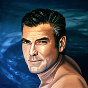 George Clooney 2 Print by Paul Meijering