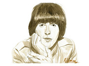 Paul Mccartney Portrait Paintings - George Harrison by David Iglesias