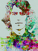 Beatles Mixed Media Acrylic Prints - George Harrison Acrylic Print by Irina  March