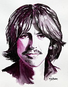 Fab Four Framed Prints - George Harrison Framed Print by Maria Barry