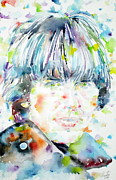 The Beatles George Harrison Paintings - George Harrison Portrait.1 by Fabrizio Cassetta