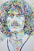 George Harrison Painting Prints - George Harrison Portrait.2 Print by Fabrizio Cassetta