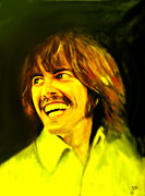 George Harrison Art - George Harrison - The Beatles by Marcello Cicchini
