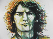 Fab Four  Paintings - George Harrison..Beatles by Chrisann Ellis