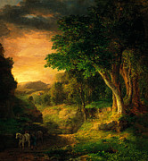 Caravaggio Paintings - George Inness In the Berkshires by MotionAge Art and Design - Ahmet Asar
