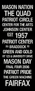 Mascot Metal Prints - George Mason College Town Wall Art Metal Print by Replay Photos
