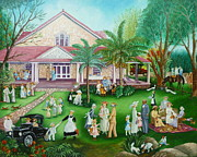 Brunch Painting Prints - George Merrick House in Coral Gables Print by Colette Raker