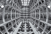 Stacks Of Books Framed Prints - George Peabody Library II Framed Print by Clarence Holmes