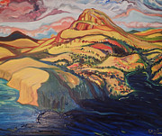 Slot Canyon Painting Originals - George River Entering Ungava Bay by Steve King