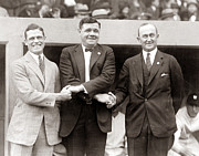 New York Yankees. Yankees.home Run Prints - George Sisler Babe Ruth Ty Cobb Print by Unknown
