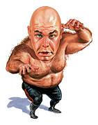 Wwe Framed Prints - George The Animal Steele Framed Print by Art