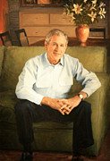Bush 43 Framed Prints - George W. Bush Framed Print by Cora Wandel