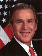 George Bush Digital Art Framed Prints - George W Bush Framed Print by Official Gov Files