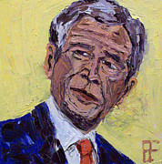 Barack Obama Oil Paintings - George Walker Bush by Brian Forrest