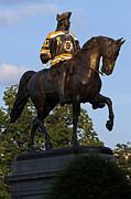 Nhl Prints - George Washington a True Boston Bruins Fan Print by Juergen Roth