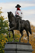 Fall Photographs Prints - George Washington a True Boston Red Sox Fan Print by Juergen Roth