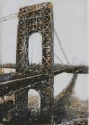 George Washington Mixed Media - George Washington Bridge 2 by Heather Douglas
