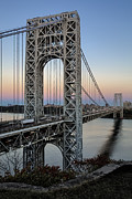 Uptown Posters - George Washington Bridge Aproaching Dusk Poster by Susan Candelario