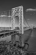 Big Skies Prints - George Washington Bridge BW Print by Susan Candelario