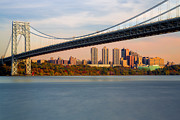 New York City Skyline Art - George Washington Bridge In Autumn by Susan Candelario
