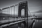 New York City Skyline Photos - George Washington Bridge Morning Twilight II by Clarence Holmes