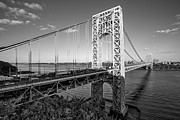 Little Red River Art - George Washington Bridge NYC BW by Susan Candelario