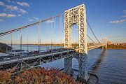 Little Red River Art - George Washington Bridge NYC by Susan Candelario