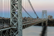 Bridges Prints - George Washington Bridge Sundown  Print by Susan Candelario