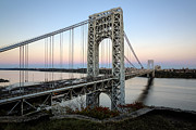 Lighthouse Prints - George Washington Bridge Sunset Print by Susan Candelario