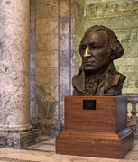 Jean_okeeffe Photos - George Washington Bust - Architecture by Jean OKeeffe by Jean OKeeffe
