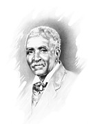 African American Art Drawings Posters - George Washington Carver Poster by Gordon Van Dusen