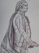Founding Father Drawings - George Washington by Christy Brammer