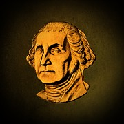 George Washington Digital Art Posters - George Washington Poster by David Dehner