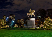 New England Architecture Photos - George Washington on the Common by Joann Vitali