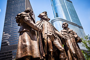 George Washington Photo Prints - George Washington-Robert Morris-Hyam Salomon Memorial Statue Print by Paul Velgos